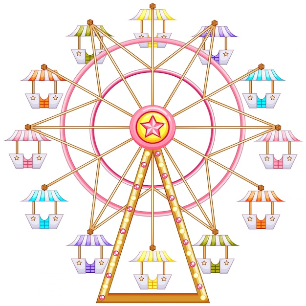 A ferris wheel ride Free Vector