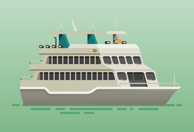 Ferry boat ship Premium Vector
