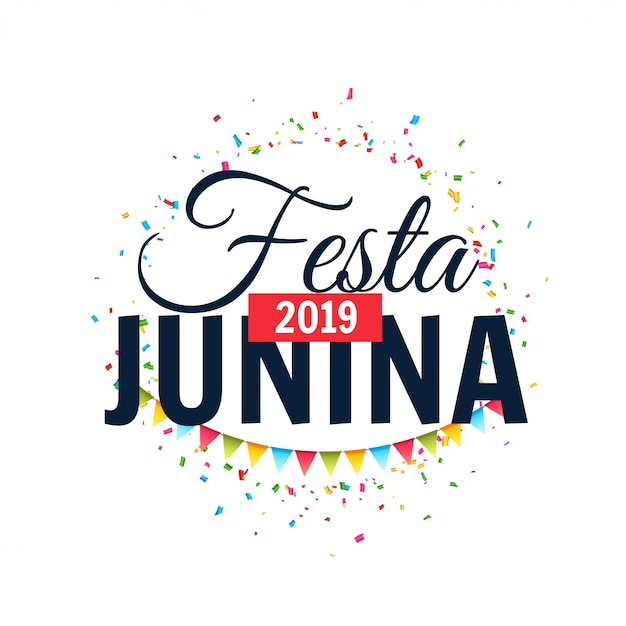 Festa junina 2019 background celebration design Free Vector