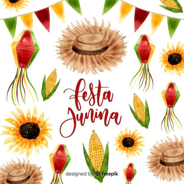 Festa junina background Free Vector