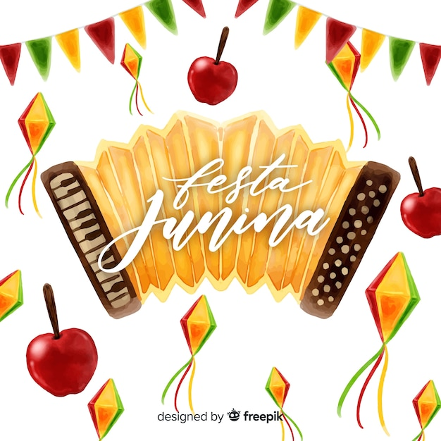 Festa junina background Free Vector