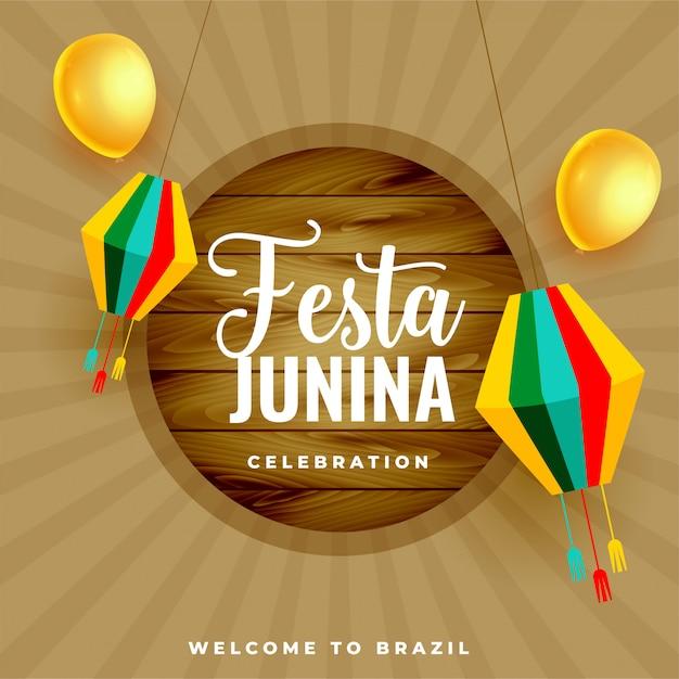 Феста хунина бразилия июнь фестиваль праздник фон Бесплатные векторы