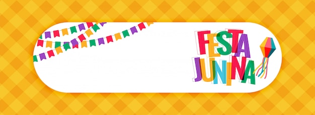 Festa junina carnival banner with text space Free Vector