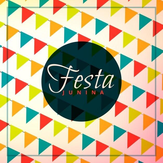 Festa junina празднование фон Бесплатные векторы