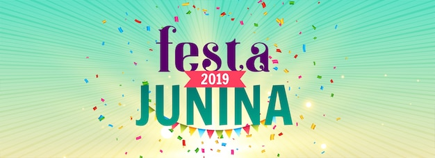 Festa junina celebration banner Free Vector