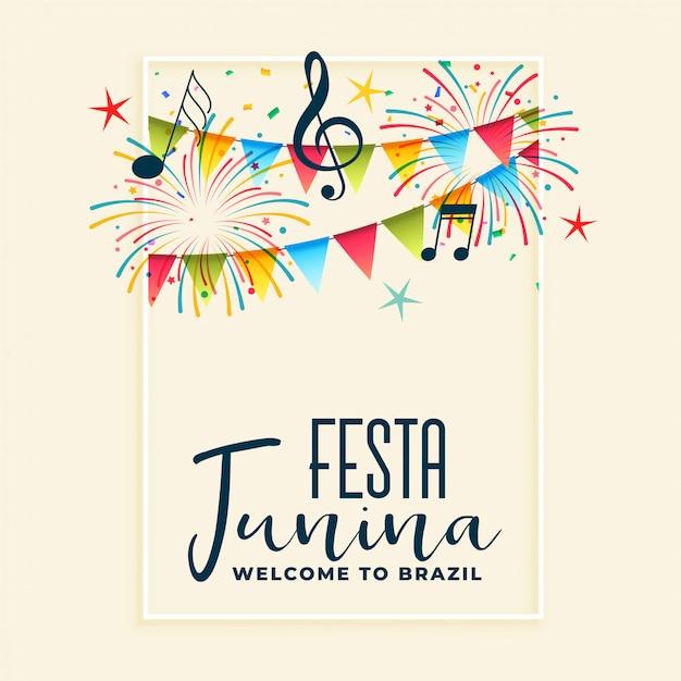Festa junina celebration party background Free Vector
