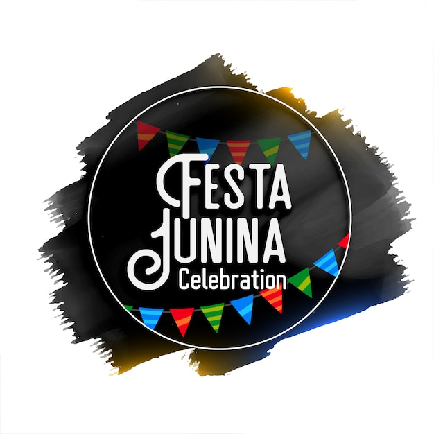 Festa junina celebration watercolor background Free Vector