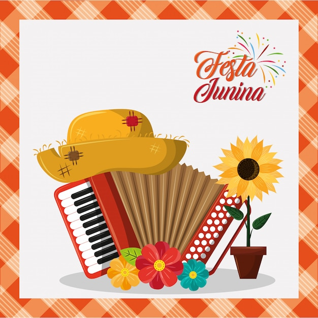Festa Junina Concept Cartoon Vector Premium Download