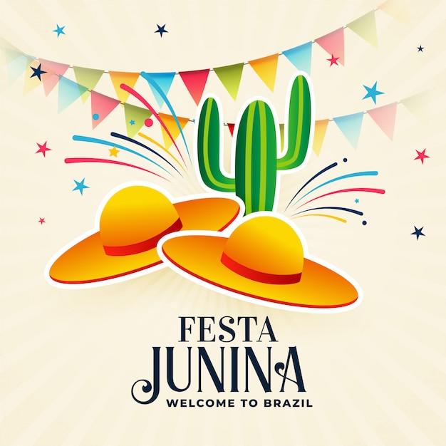 Festa junina decorative background Free Vector