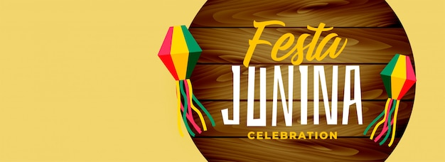 Festa junina elegant wide banner design Free Vector