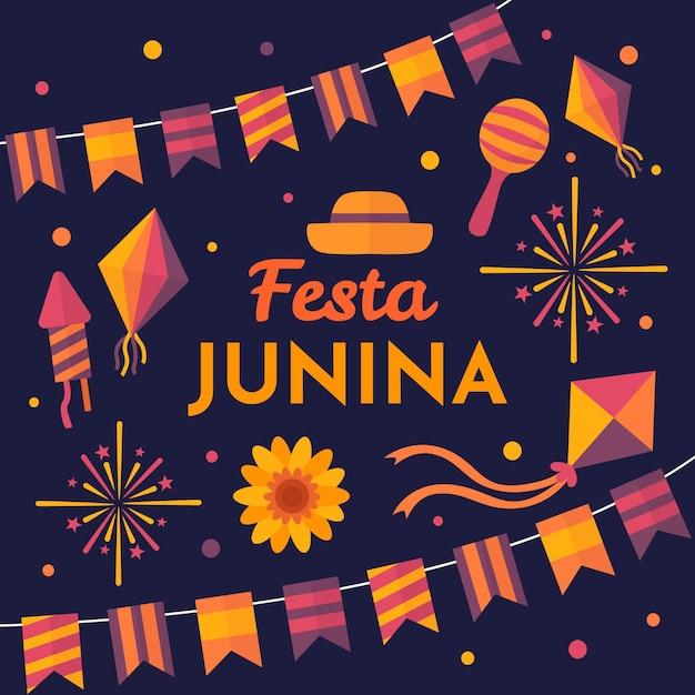 Праздник festa junina Бесплатные векторы