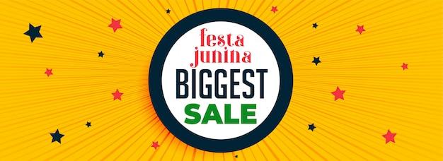 Festa junina festival sale banner Free Vector