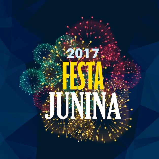 Festa junina fireworks design Free Vector