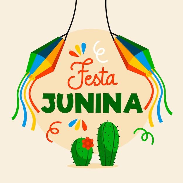 Festa junina flat design Free Vector