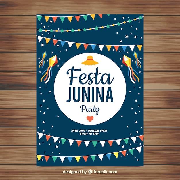Festa junina poster invitation with colorful pennants vector free festa junina poster invitation with colorful pennants free vector stopboris Gallery