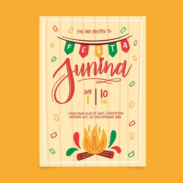 Festa junina poster Free Vector