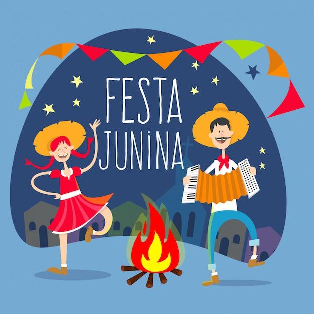 Festa junina Premium Vector