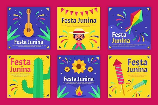 Шаблон дизайна карты festa junina Бесплатные векторы