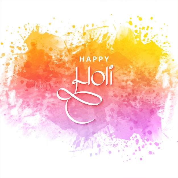 Festival of colors happy holi Free Vector