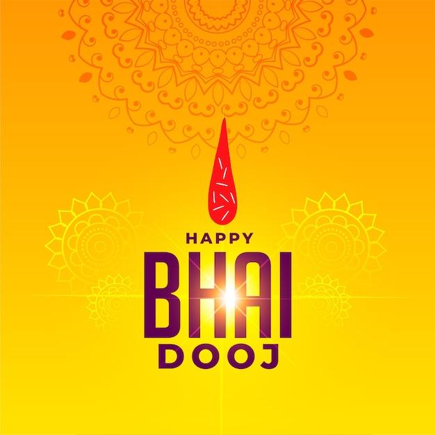 Festival greeting for happy bhai dooj celebration Free Vector