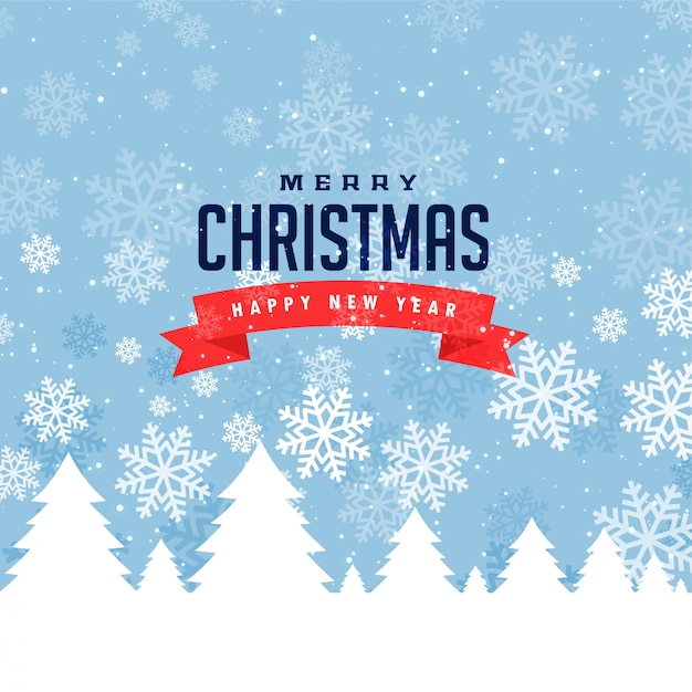Festival greeting for merry christmas and winter season Free Vector