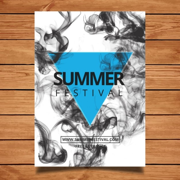 Festival poster with smoke Free Vector