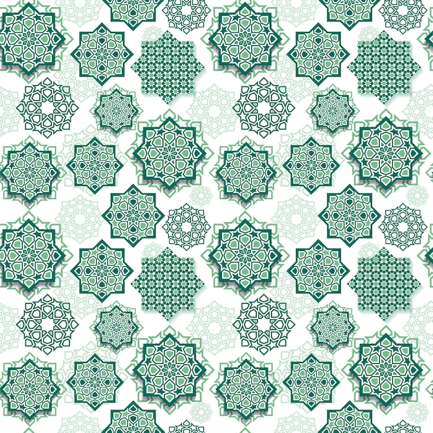 Festival seamless pattern graphic of islamic geometric art. Premium Vector