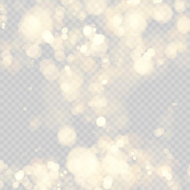 焦点がぼけたライトでお祝いの背景。ボケ円の効果。 Premiumベクター