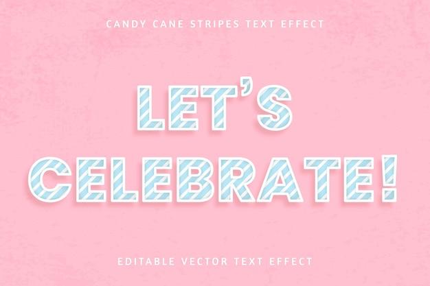 お誕生日おめでとうキャンディケイン編集可能なテキスト効果 無料ベクター