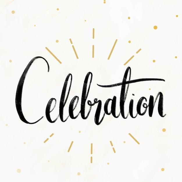Festive celebrations card Free Vector