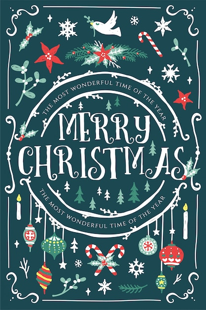 Festive Christmas Card Designs Vector | Premium Download