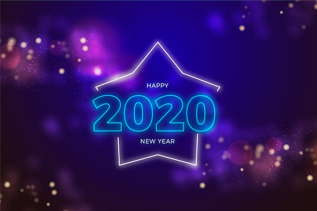 Festive decoration for new year night Free Vector