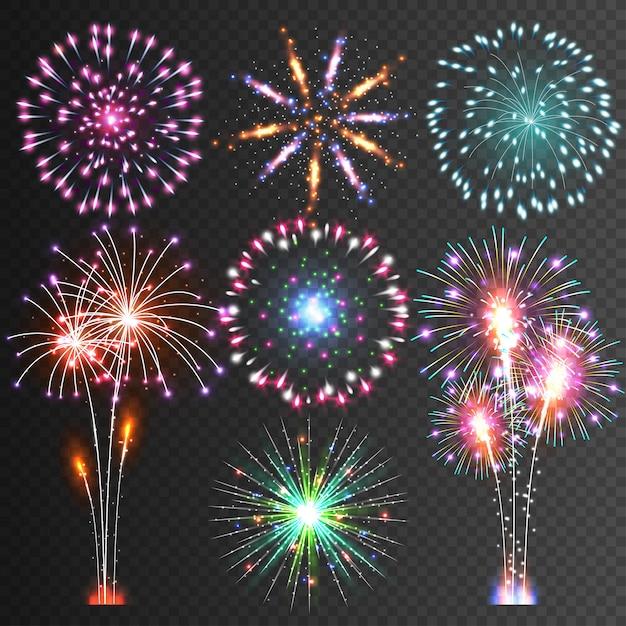 Festive firework Premium Vector