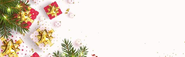 Праздничная открытка с новым годом и рождеством. Premium векторы