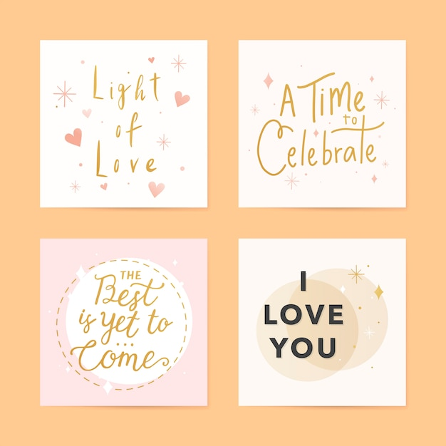 Festive greeting cards Free Vector