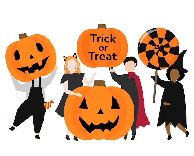 Festive happy halloween graphic illustration Free Vector