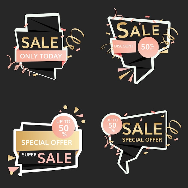 Festive sale signs Free Vector