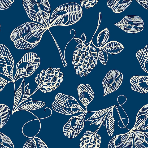 Festive st patricks day seamless pattern Free Vector