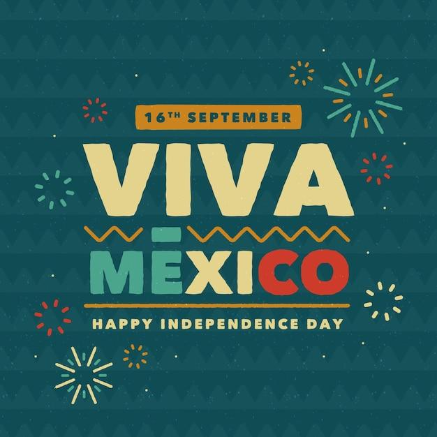Festive viva mexico lettering Premium Vector