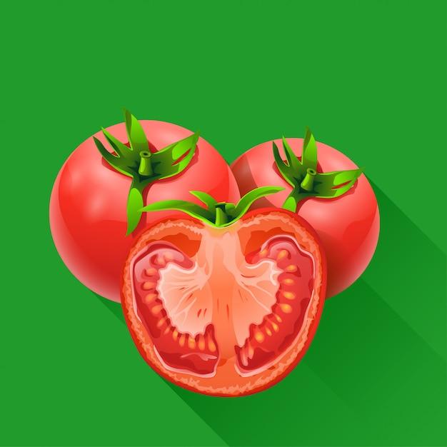 緑のトマトが少ない Premiumベクター
