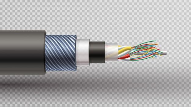 Fiber optic Premium Vector