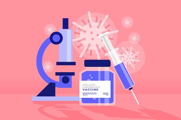 Combatti il concetto di virus con il microscopio Vettore gratuito