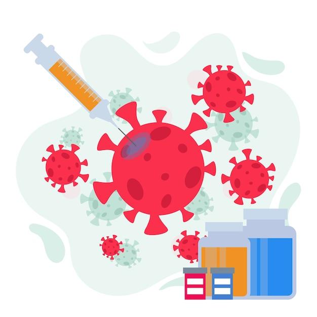 Combatti il concetto di cura del virus Vettore gratuito