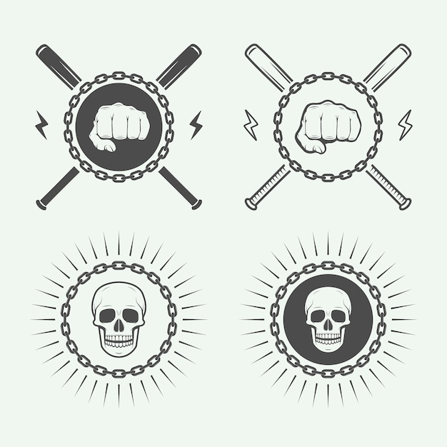 Fighting or martial arts logo Premium Vector