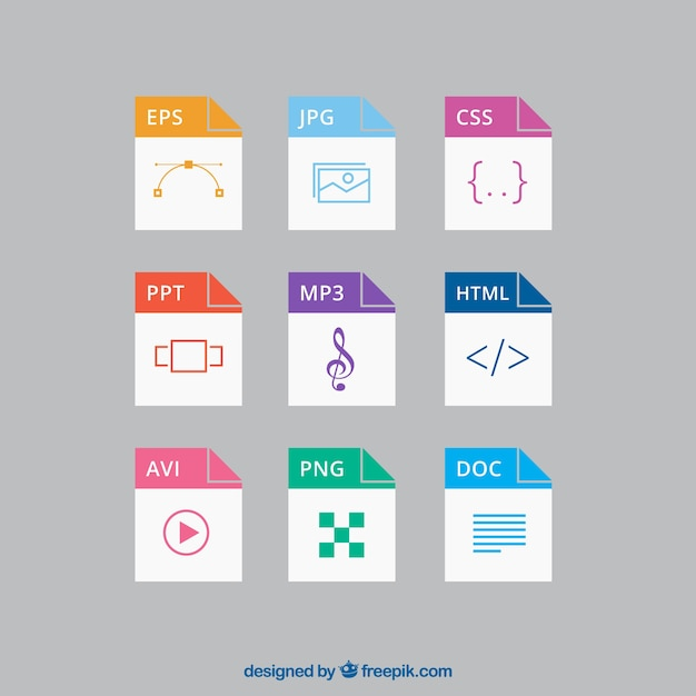 file formats vector free download