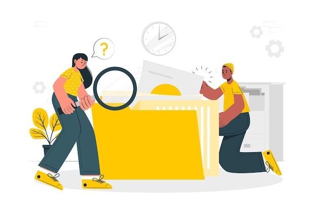 File searchingconcept illustration Free Vector