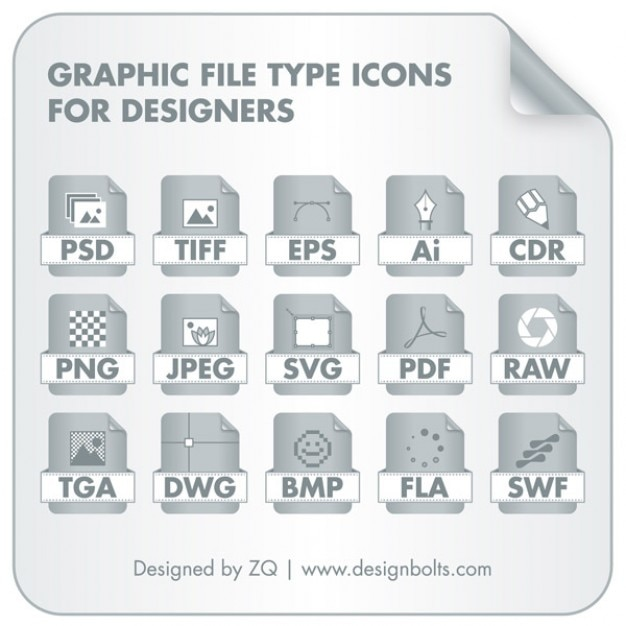 file type icons collection vector free download