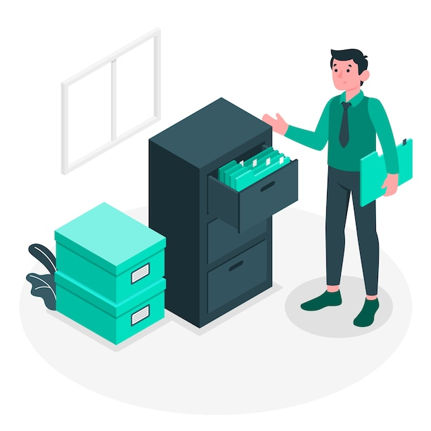 Filling system illustration concept Free Vector