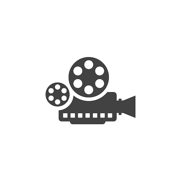 film camera logo vector premium download
