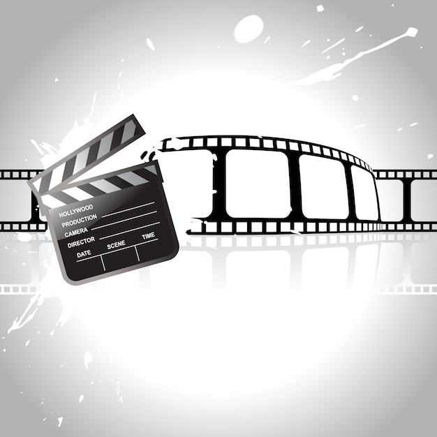 Film concept with reel Free Vector